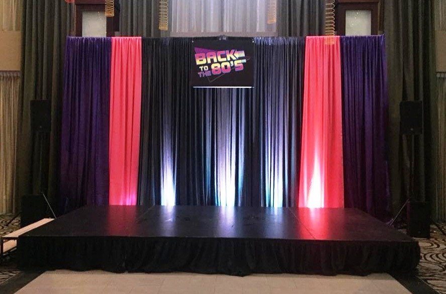 Back to the 80's! Backdrop