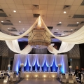 12' Crystal Curtains added to Ceiling Swags