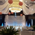 6 Ceiling Swags with Mini Lights & Paper Lanterns