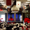 Fun Casino Royale Night Ceiling Decor with Black Swags with Mini Lights & Over-Sized Playing Cards