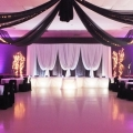 Black Sheer Swags with Mini Lights, Heydenshore Pavillion