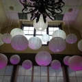 Paper Lanterns with Led Uplighting, Audley Hall Deer Creek