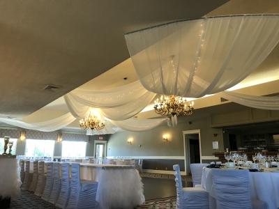 8 Sheer Ceiling Swags with Mini Lights, Royal Ashburn Compton Room