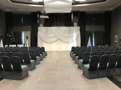 Grey Ruching Chair Covers