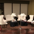 Corporate VIP Section with White Leather Furniture