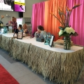 Registration Tables Thatch Skirting Decor