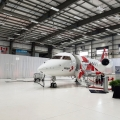 Airplane Hanger - Wall Draping with LED Uplighting