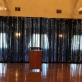 Waterfall of Lights Corporate Backdrop in Navy