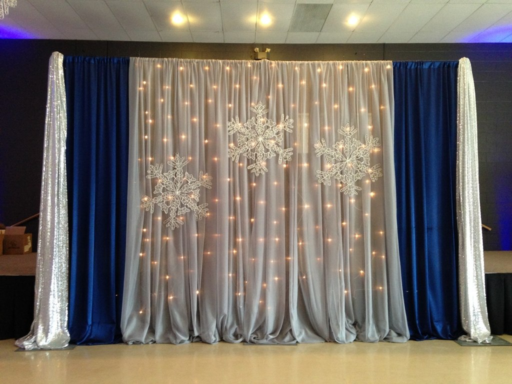 Winter Corporate Party Backdrop