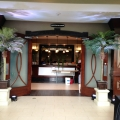 """ Havana Nights "" Theme Decor Entrance Way with Uplit Palm Trees"