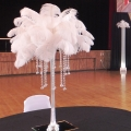 White Feather Topper Centrepieces - Great Gatsby Theme