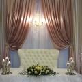 Love Seat Rental & Heritage Chandelier for rent