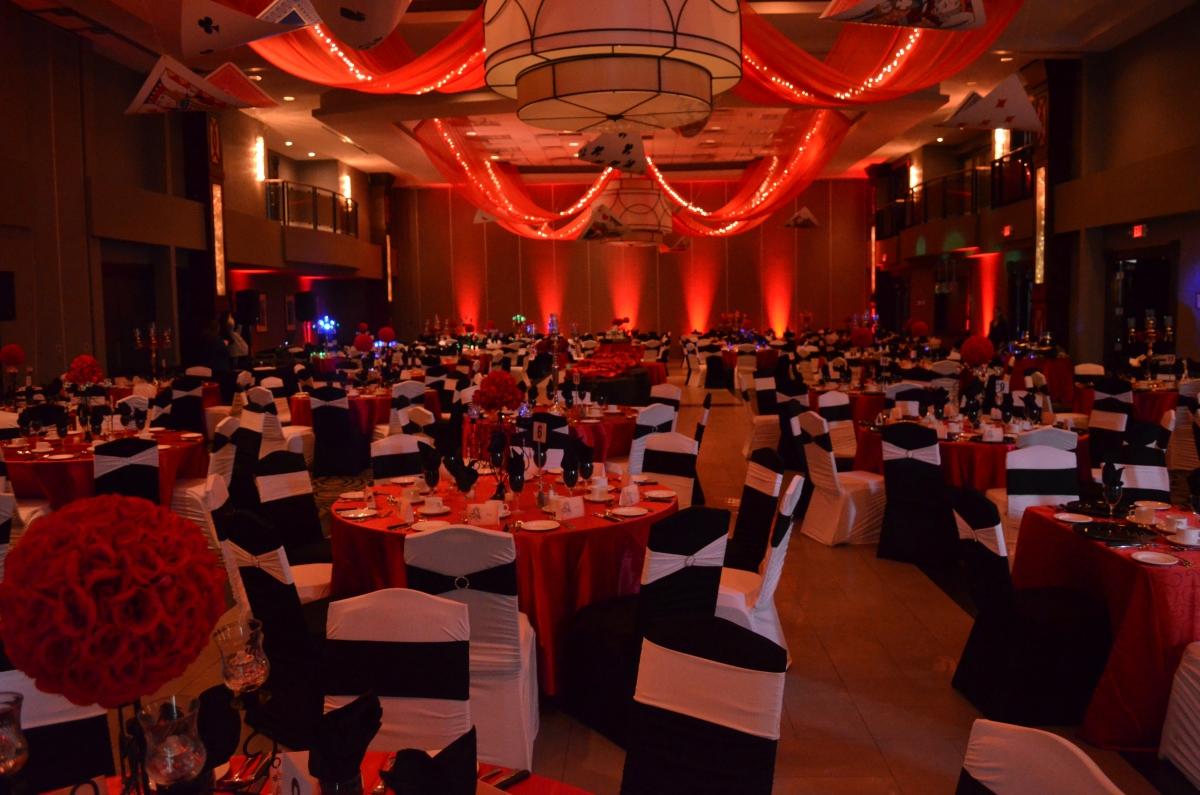 Red Led Room Uplighting
