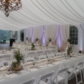 Lace & Grace Backdrop, Burlap & Wildflowers, Nestleton Waters Inn