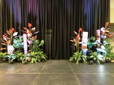 Tropical Stage Decor