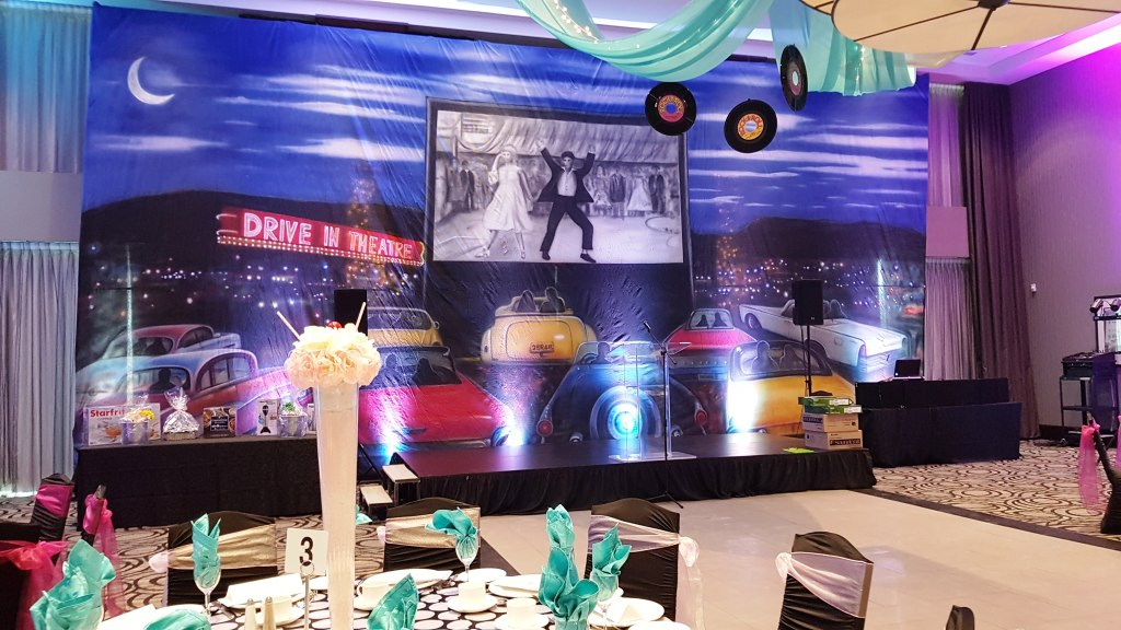 """Drive-In Backdrop """" Grease"""""""