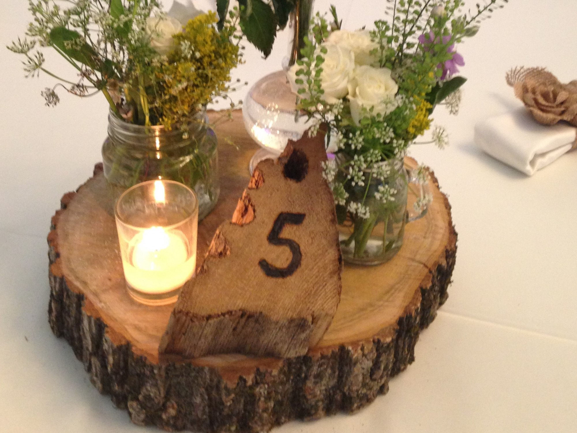 Wood Cookie Base for Centrepieces