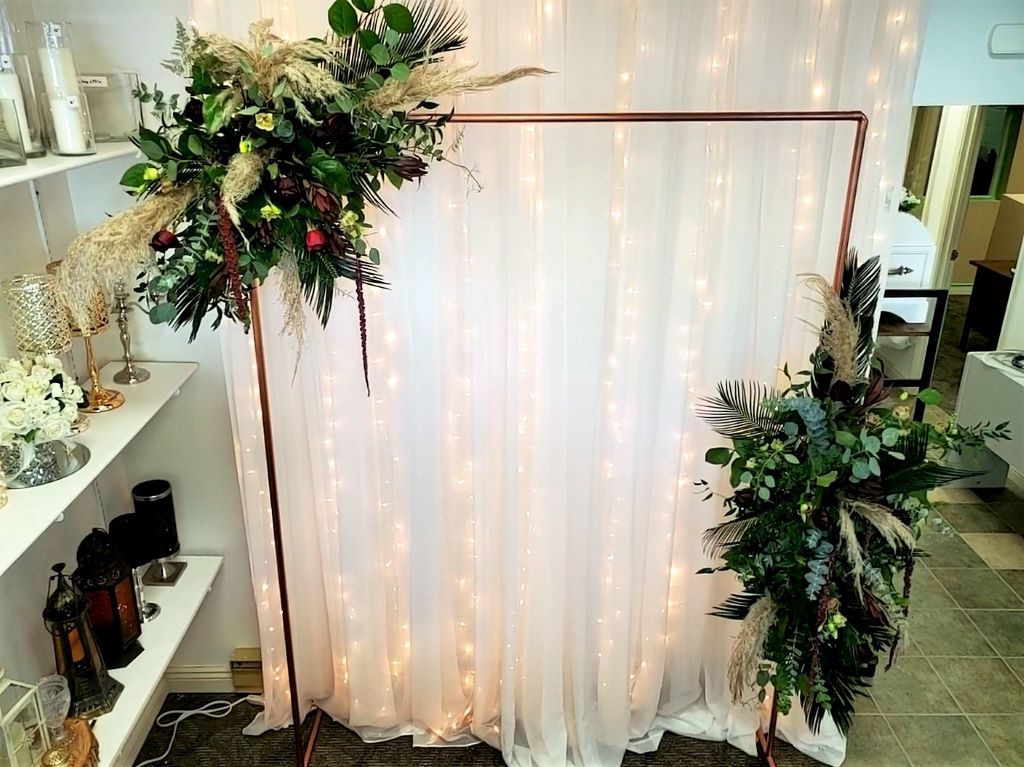 Copper Arbour with Fresh Florals 7'h x 5'w