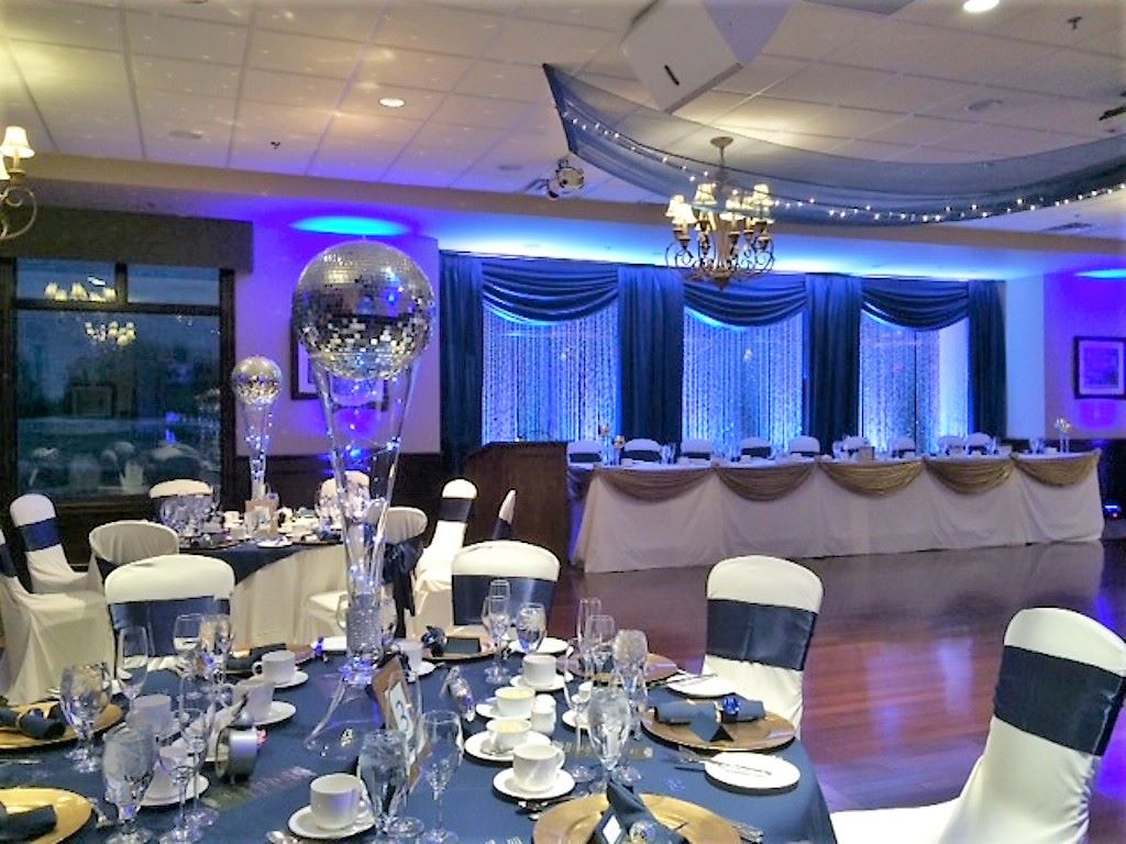 New Year's Eve Wedding - Navy Blue, Gold & Silver