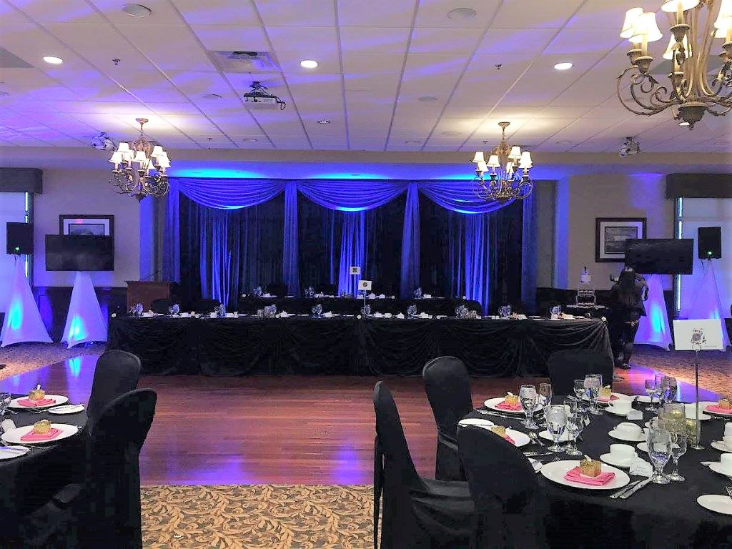 Black & Royal Blue Wedding Reception