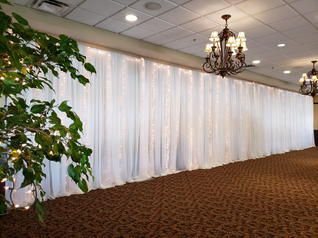 Waterfall of Lights Wall Draping