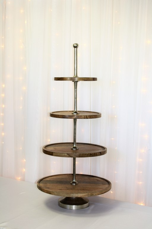 4 Tier Wood Cupcake Stand