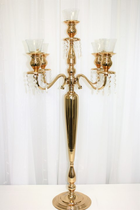 "40"" Soft Gold Candelabra"
