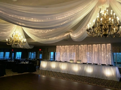 Stunning Ceiling Swags with Mini Lights