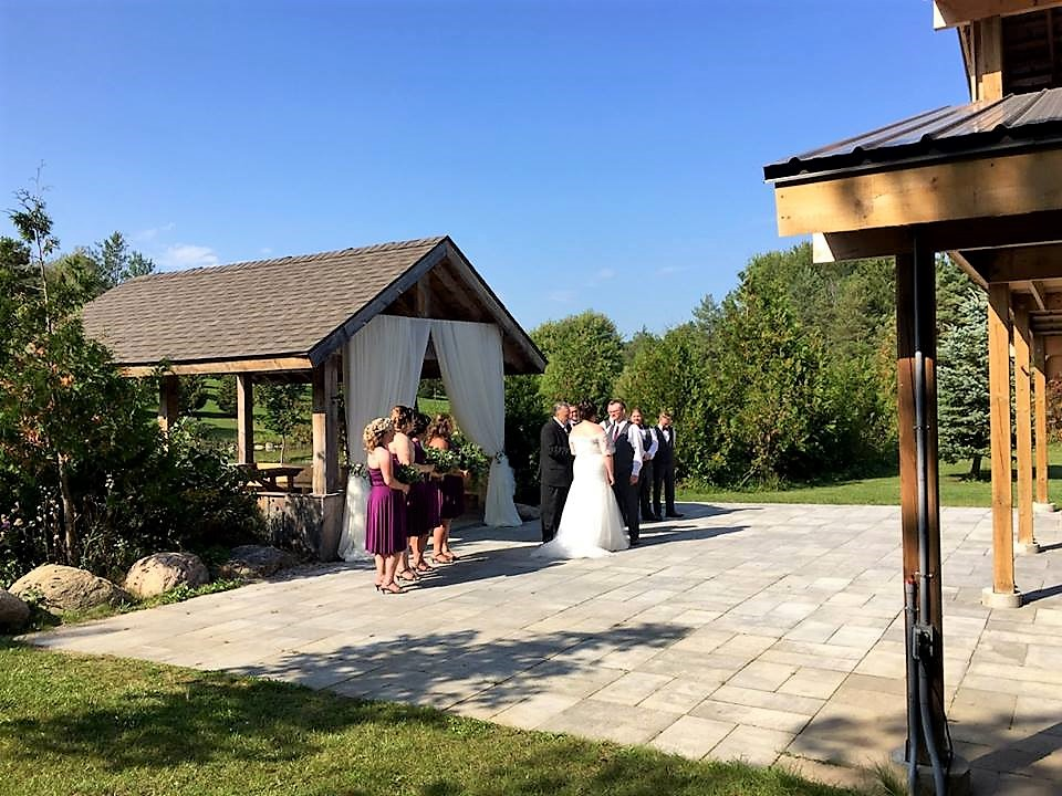 Outdoor Arbour Ceremony Decor, Carvers Cottage