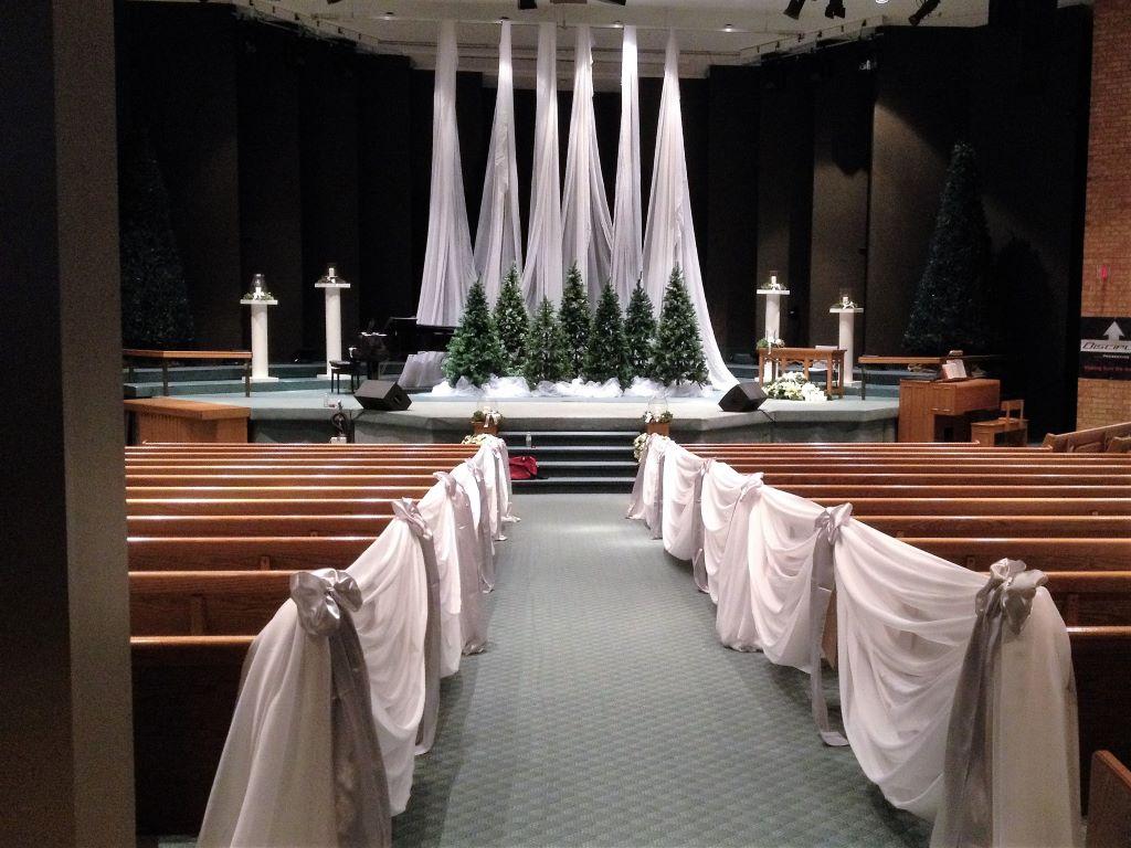 Winter Theme Ceremony Church Decor, Calvary Baptist Oshawa