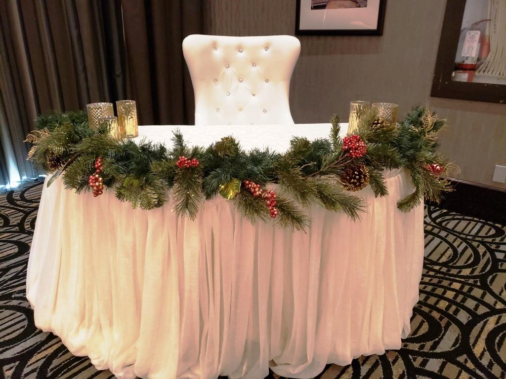Holiday Ceremony Table Decor