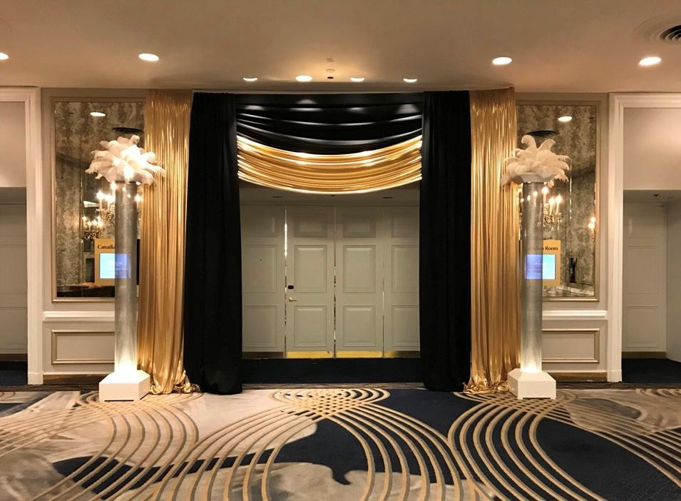 Gold & Black Entranceway