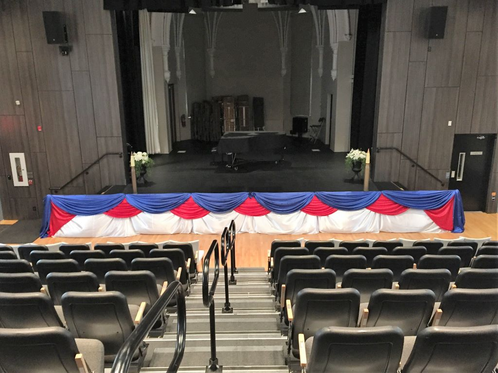 Stage Decor Red White & Blue