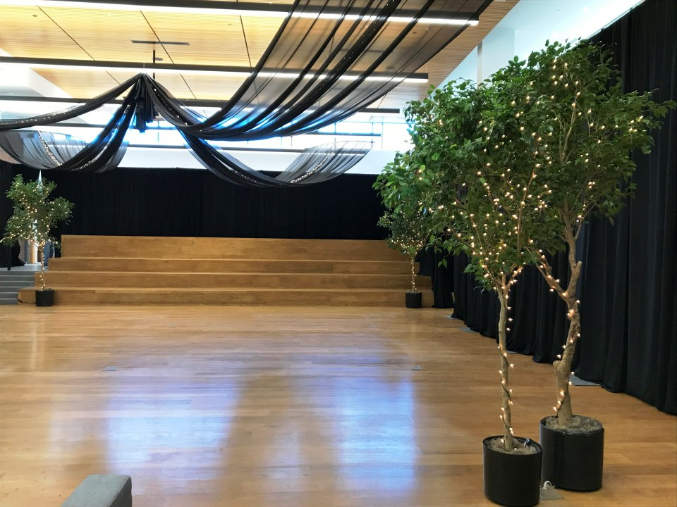 Creating an Event Garden Space with Pipe & Drape Hardware