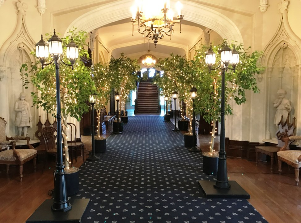 Lamp Posts, Street Lamps & 6' Trees with Mini Lights - Grand Entranceway