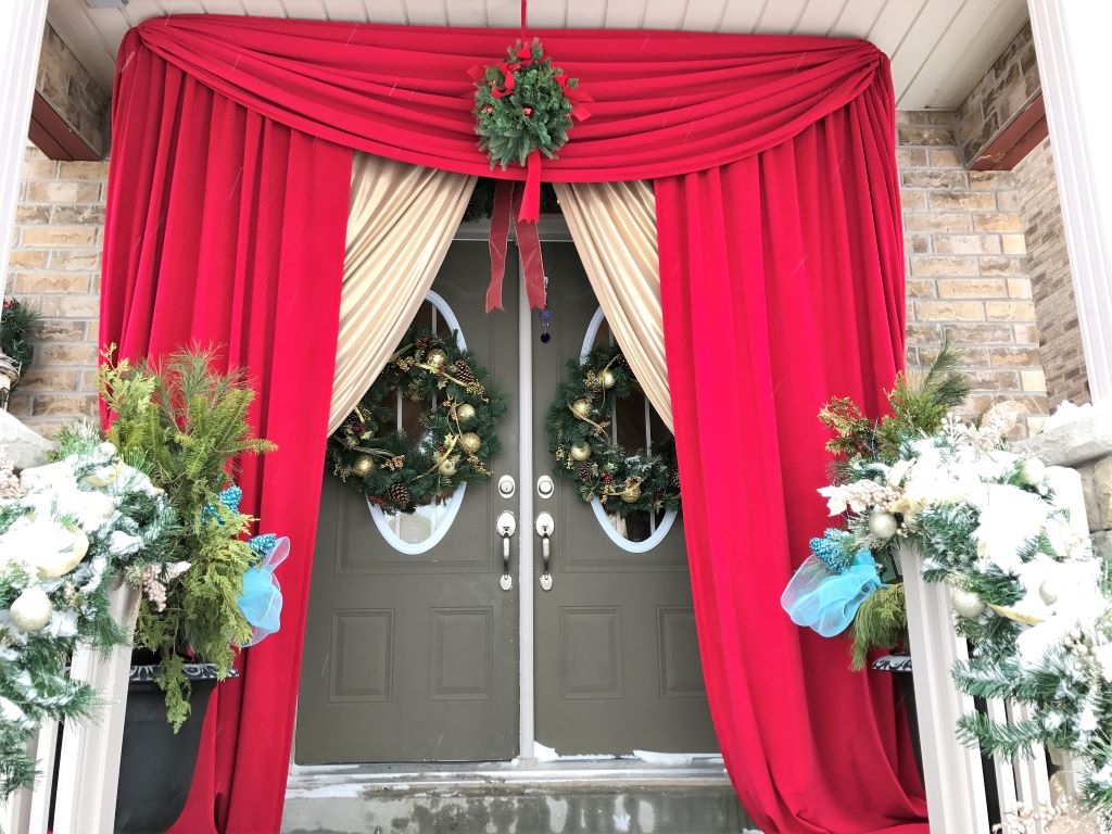 Holiday Theme Front Door Entrance