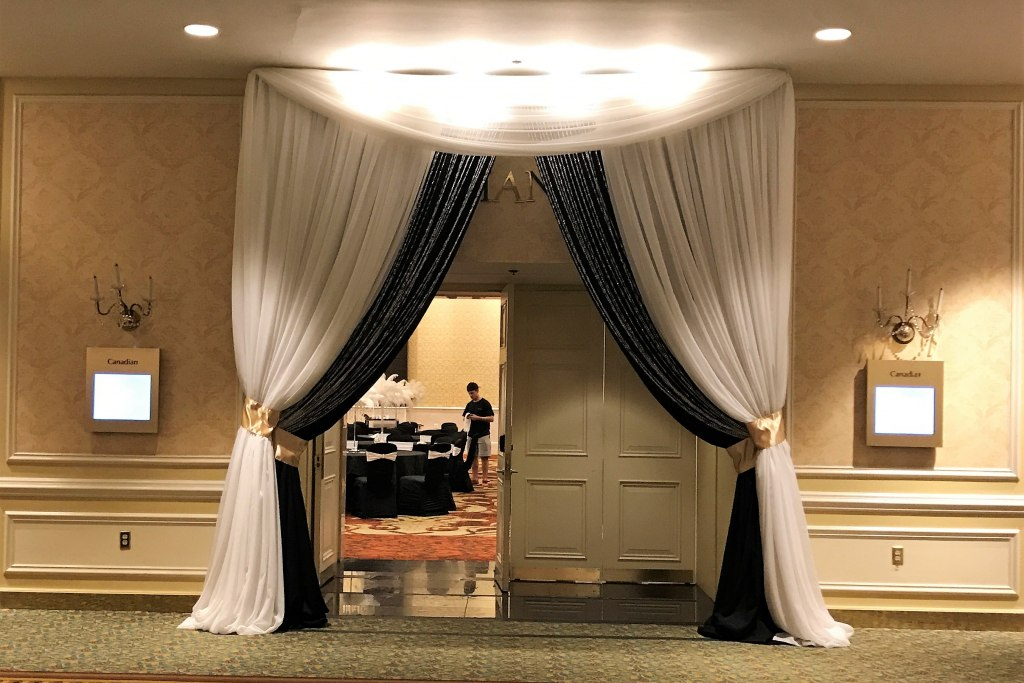 White & Black Double Entranceway with Crystals