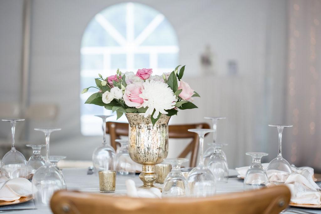 Gold Mercury Pedestal Vase Rentals