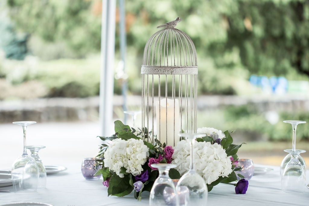 Bird Cage Lantern with LED Flicker Flame Candle