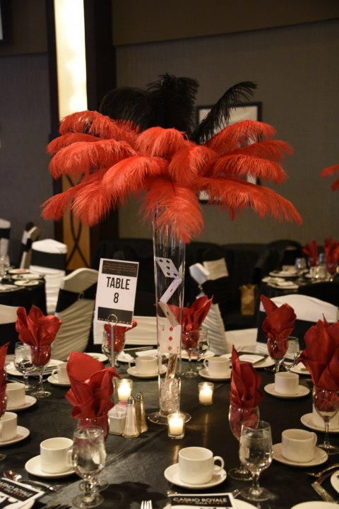 Feather Topper Centrepieces