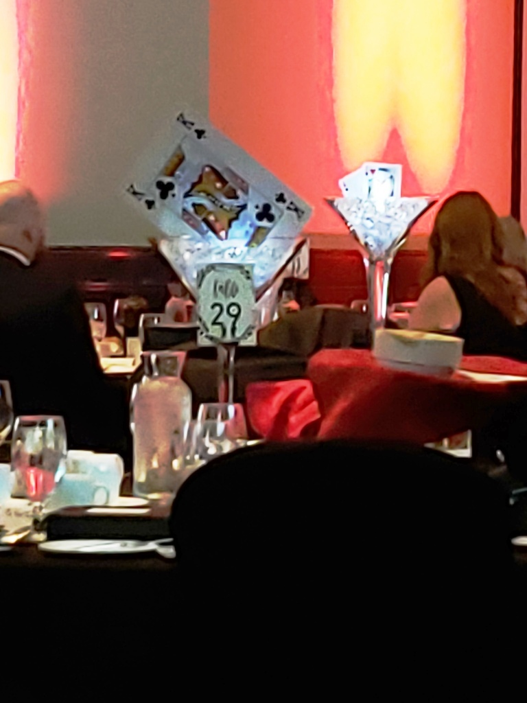 Casino Theme - Martini & Cards Centerpieces