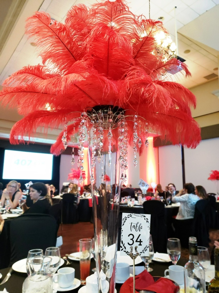 Casino Theme - Feather Toppers with Crystals