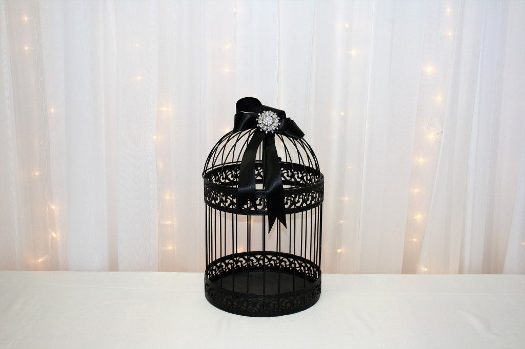 Black Bird Cage Card Box