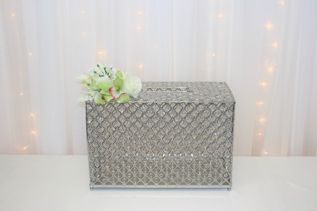 Silver Crystal Envelope Chest