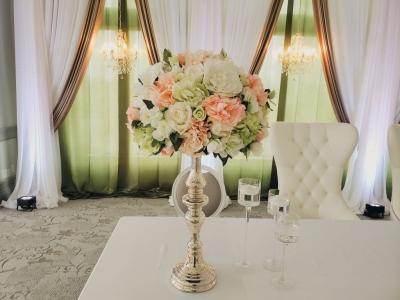 Large Annie Silk Floral Toppers For Rent