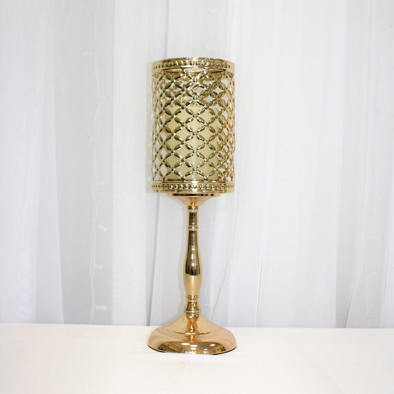 Gold Metal Lampshade Rental 16""