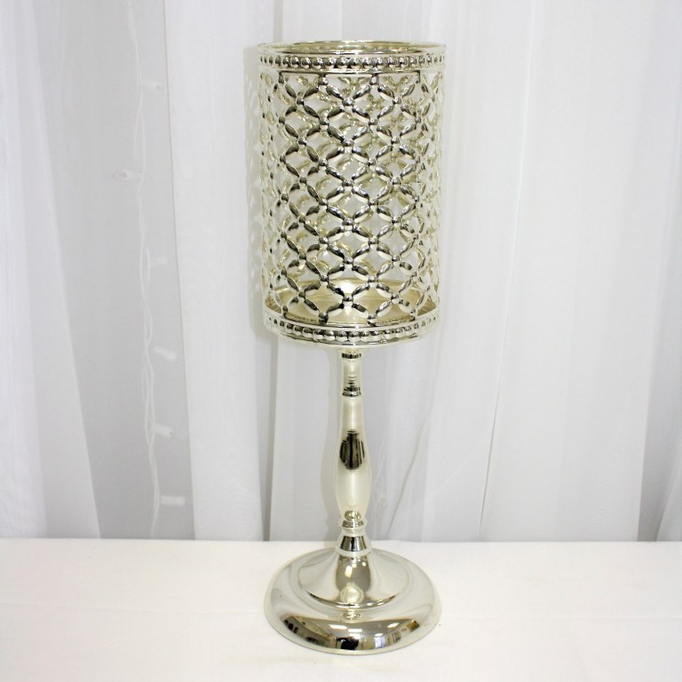 Silver Metal Lampshade Rental 16""