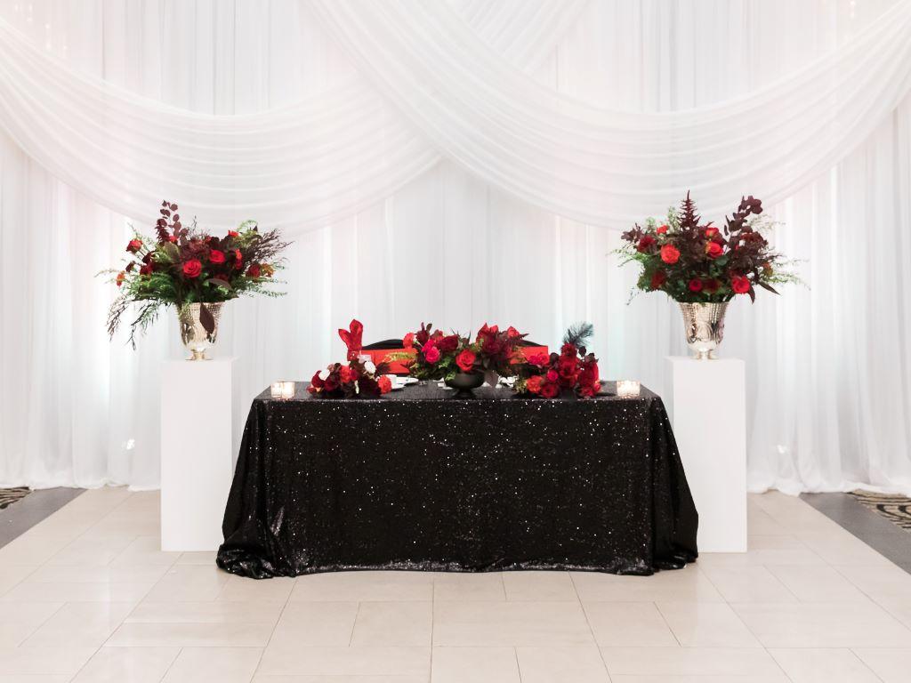 Black Sequin Head Table