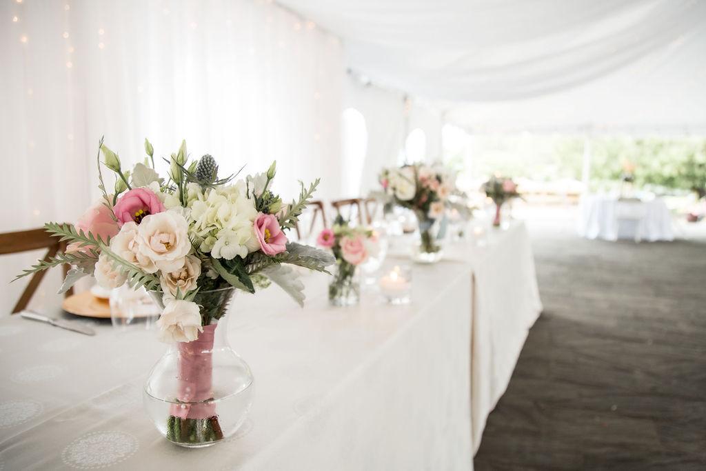 Bouquet Vases Head Table Decor