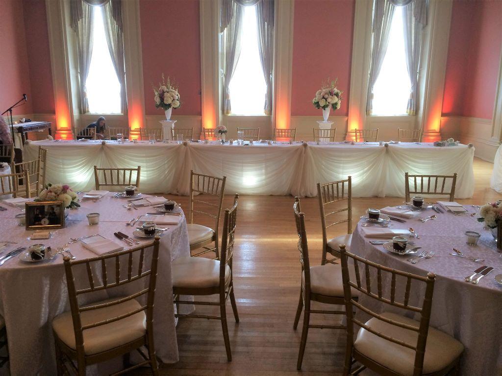 Traditional Sheer Head Table Decor, St. Lawrence Hall Toronto